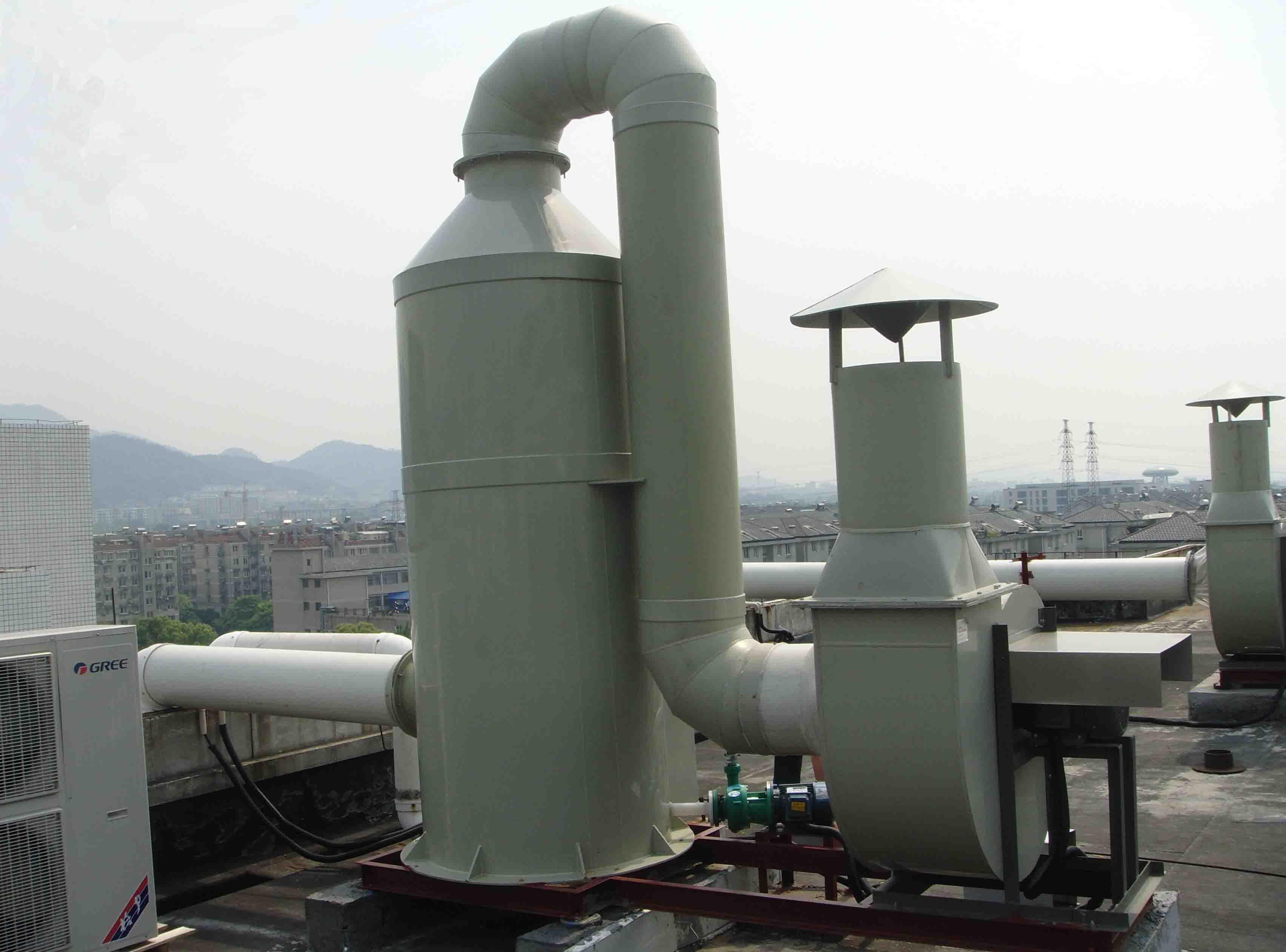 酸雾吸收塔-废气处理成套设备-杭州泷赢环境科技有限